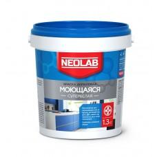 Акриловая супербелая краска МОЮЩАЯСЯ, Neolab 1.3 кг