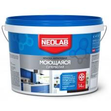 Акриловая супербелая краска МОЮЩАЯСЯ, Neolab 14 кг