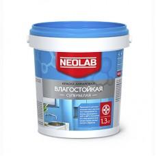 Акриловая супербелая краска ВЛАГОСТОЙКАЯ, Neolab 1.3 кг