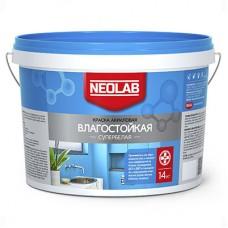 Акриловая супербелая краска ВЛАГОСТОЙКАЯ, Neolab 14 кг