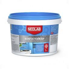 Акриловая супербелая краска ВЛАГОСТОЙКАЯ, Neolab 3 кг