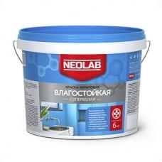 Акриловая супербелая краска ВЛАГОСТОЙКАЯ, Neolab 6 кг